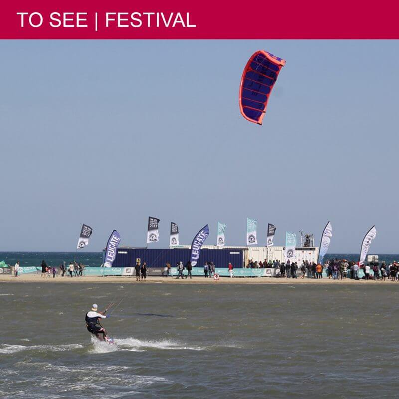 The world's top kitesurfers at the Mondial du Vent