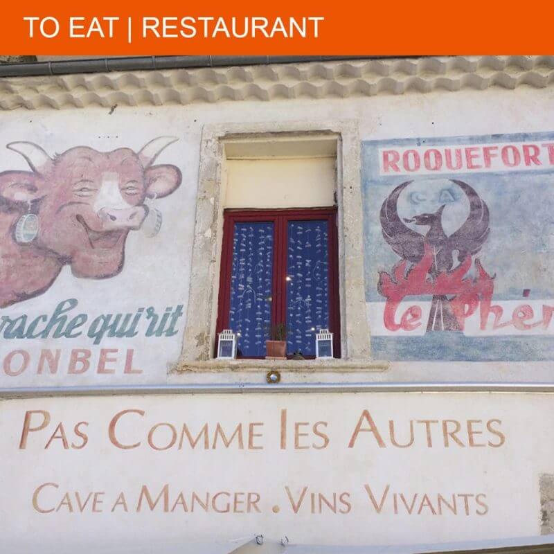"Wine and a beautiful piece of meat at restaurant ""Pas Comme les Autres"""