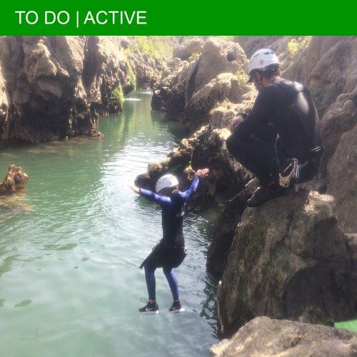 The thrills and spills of canyoning in the Hérault Gorge