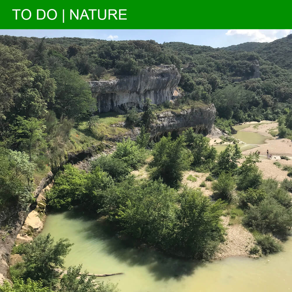 Top swimming spot at the Gorges du Gardon in Collias