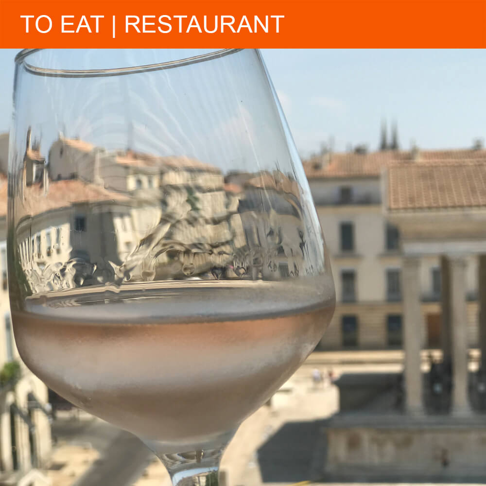 Restaurant Ciel de Nîmes serves great food up in the air