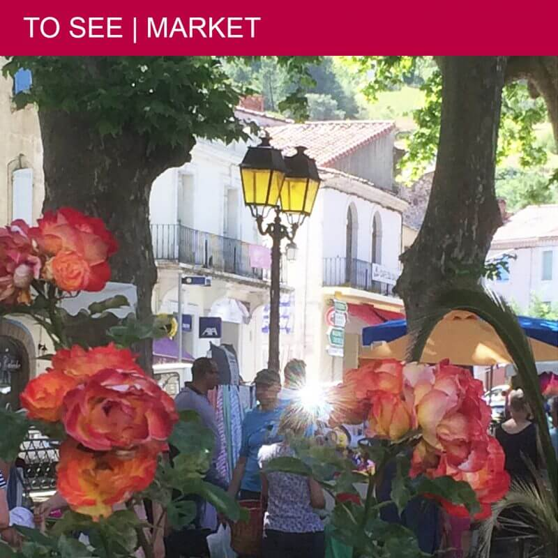Every Thursday and Sunday morning lively market in Saint-Chinian