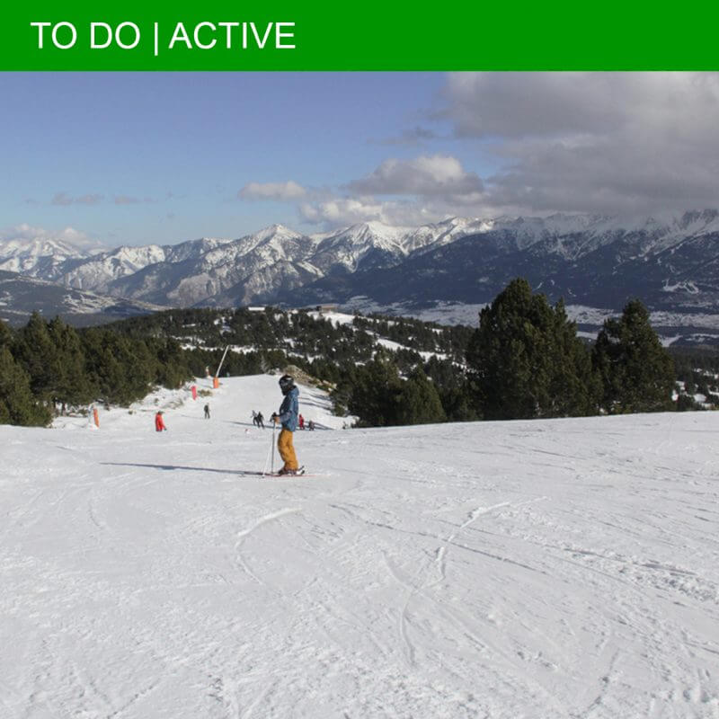 Skiing in the South of France: Font-Romeu