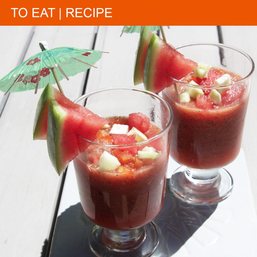 gazpacho with watermelon
