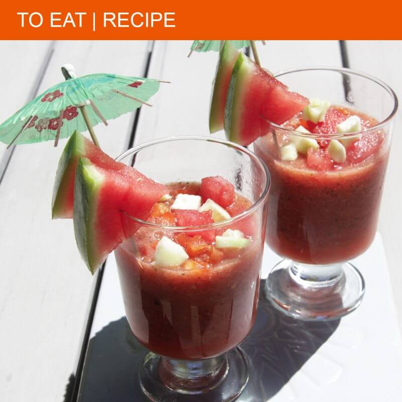 Super fresh gazpacho with watermelon