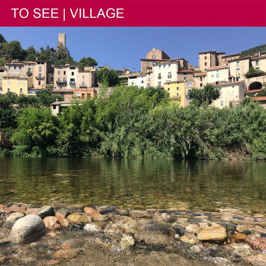 swimming in Roquebrun