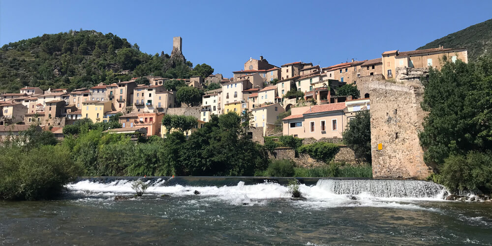 swimming in Roquebrun