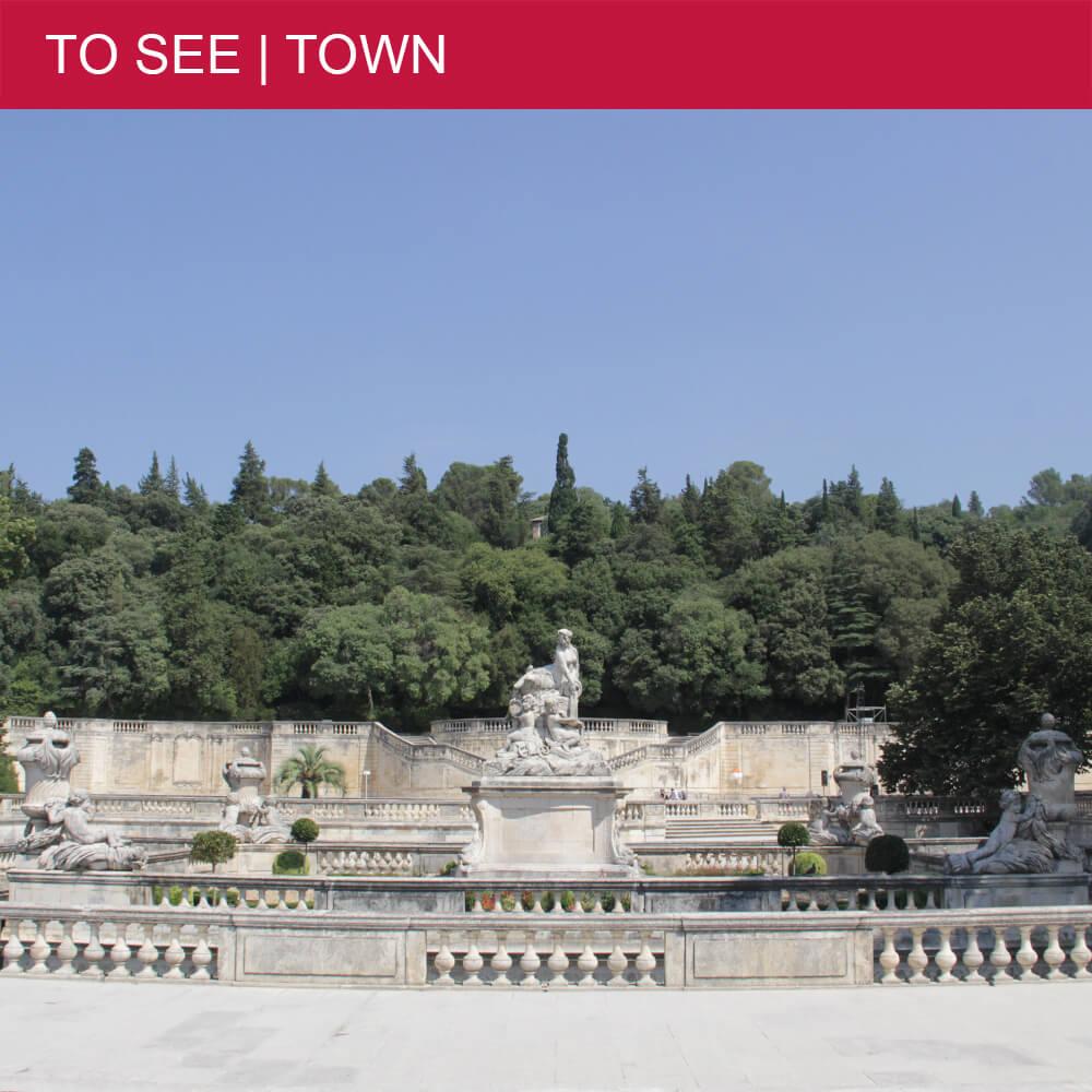 Take a stroll in the lovely Jardins de la Fontaine in Nîmes