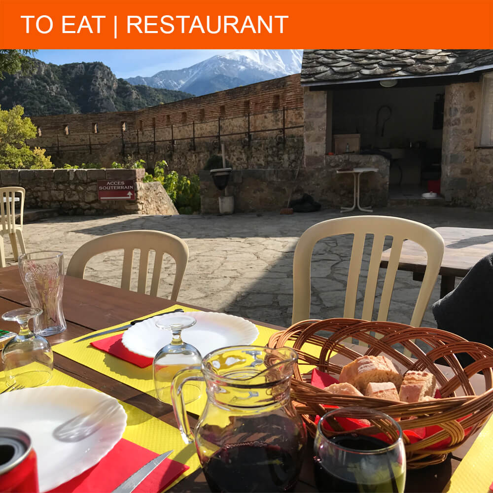 Catalan lunch at Fort Libéria in Villefranche-de-Conflent