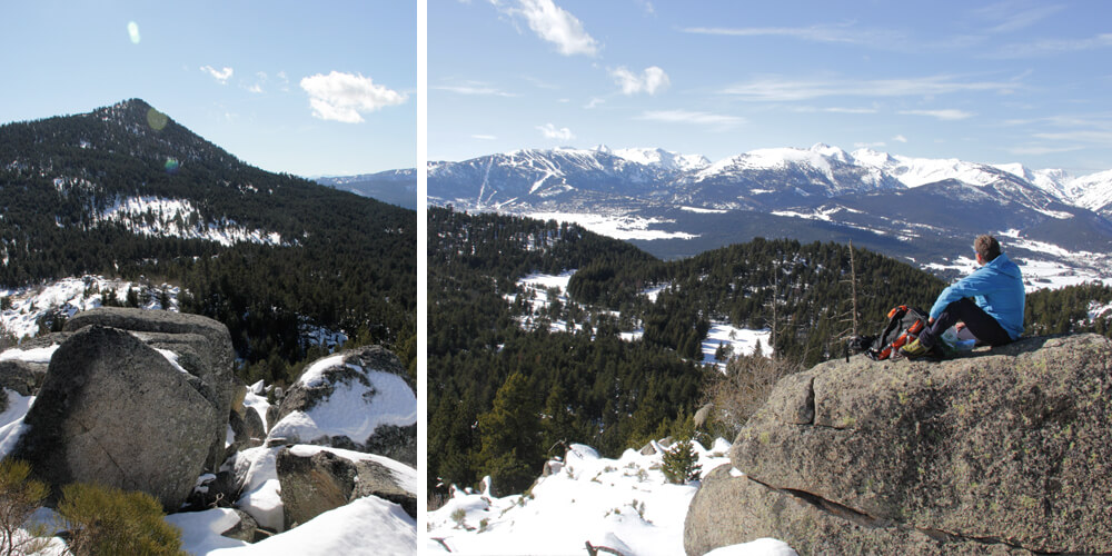 Snowshoe hike Pyrenees