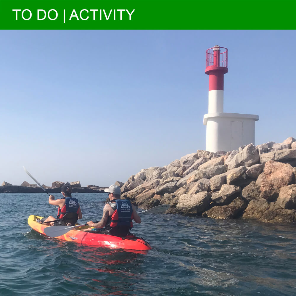 Sea kayaking along the surprising coastline of Sète