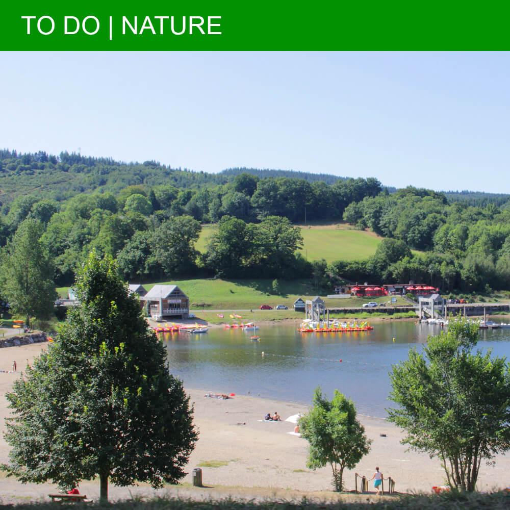 Lac de la Raviège is the base for fun activities